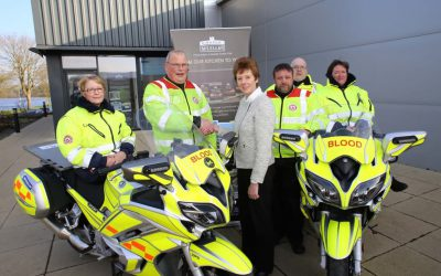 Lifesaving blood bikes service receives funding boost from Castle Maclellan