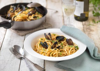 Crab and Mussel Linguine
