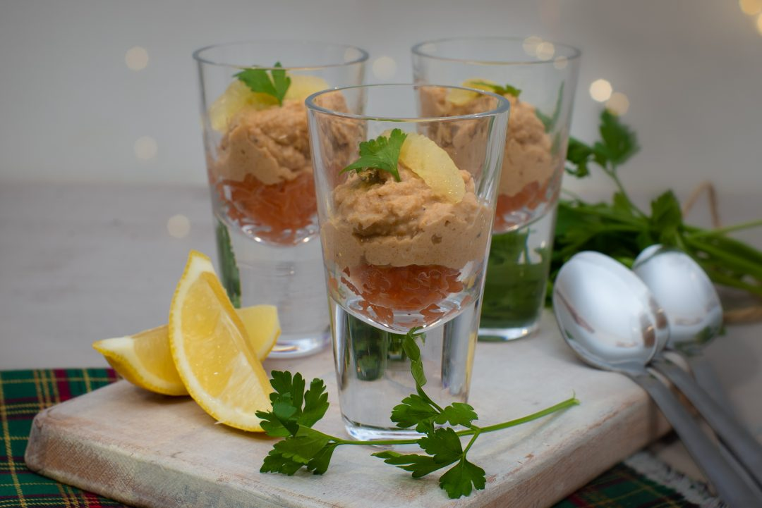 Crab & Salmon Shots