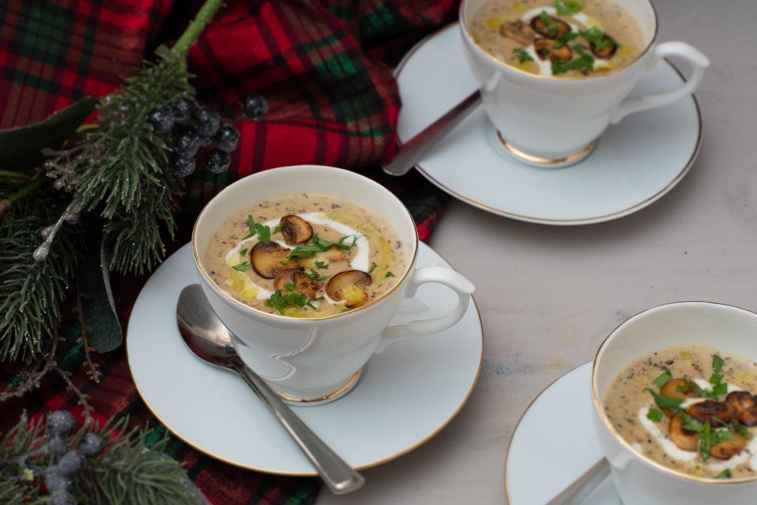 Mushroom Pâté & Truffle Soup