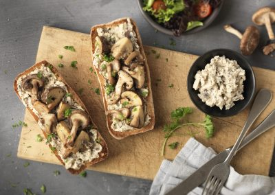 Mushrooms on Toasted Ciabatta