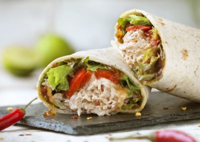 Light Tuna Chilli Wrap