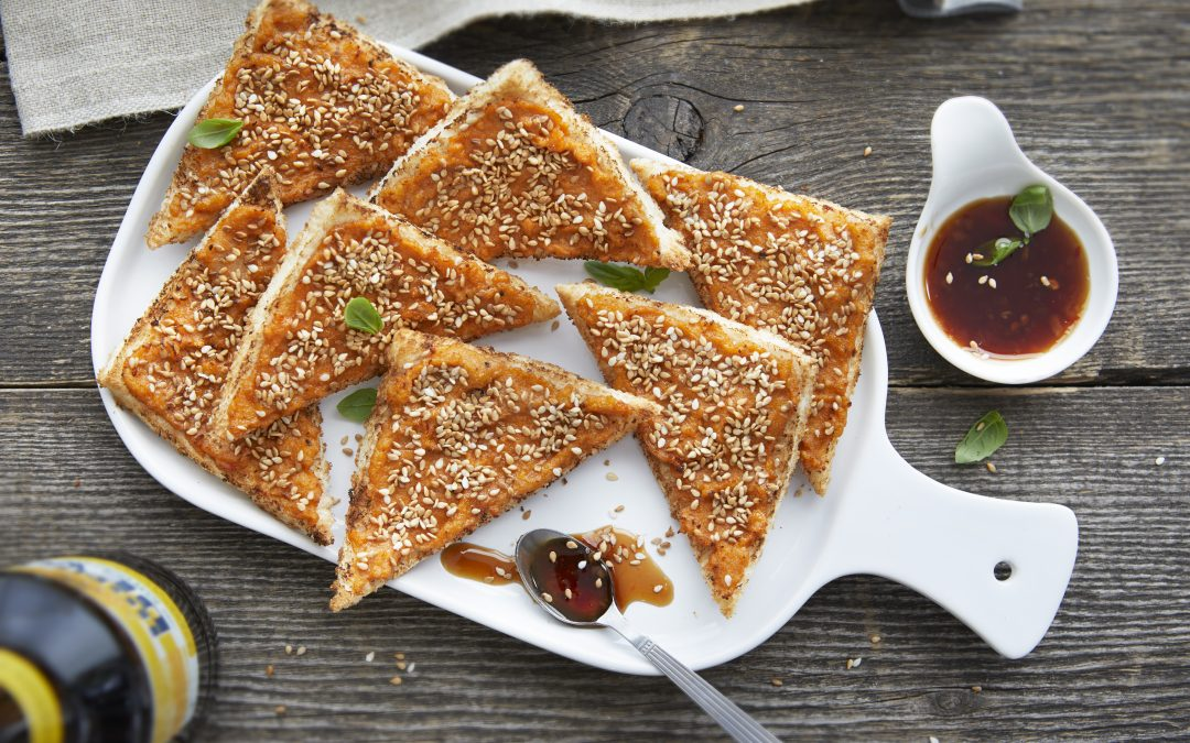 Crab and Sesame Seed Toasts