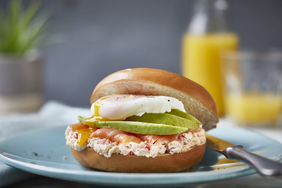 Smoked Salmon and Avocado Bagel