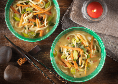 Hot and Sour Crab Noodle Soup
